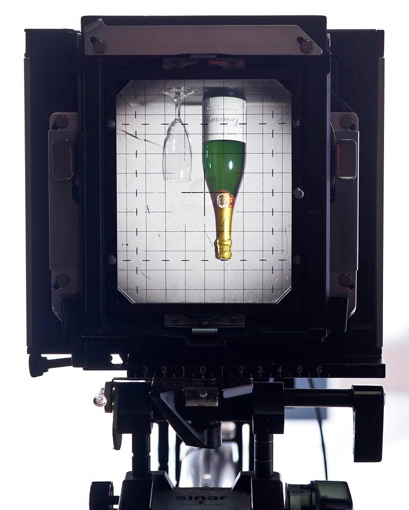Vetro di messa a fuoco di una fotocamera non reflex di grande formato - foto di Eusebius (Guillaume Piolle)
