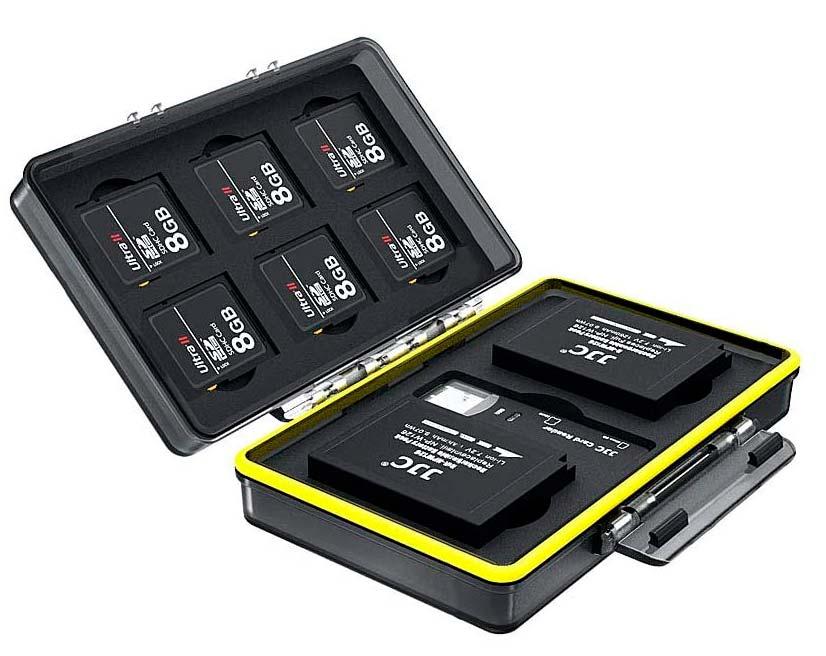 Custodia per schede di memoria e batterie