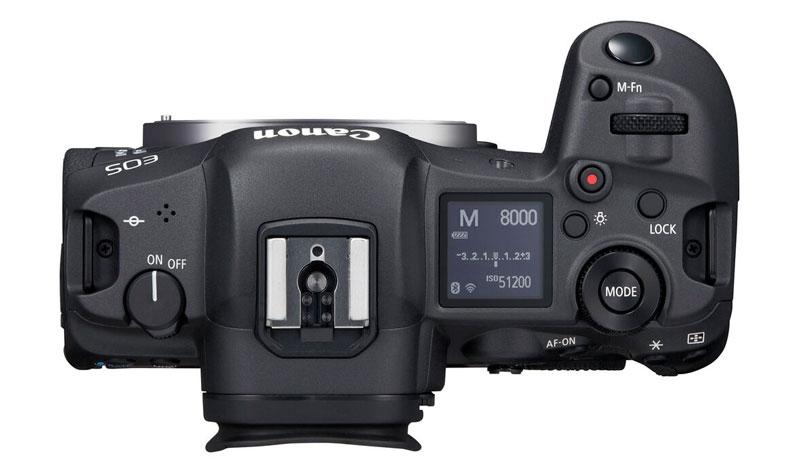 Canon EOS R5 vista dall'alto