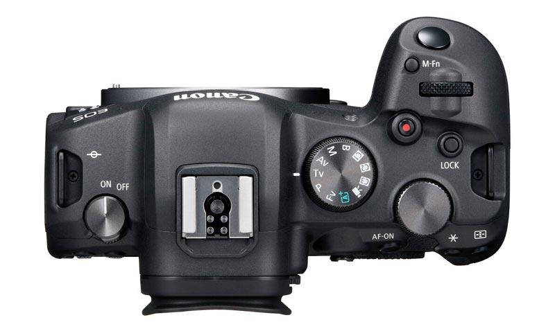 Canon EOS R6 vista dall'alto