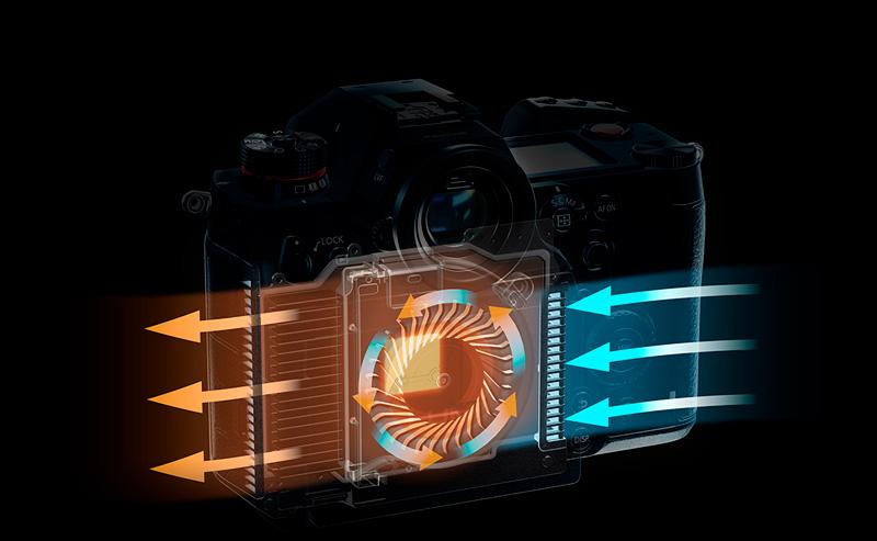 Sistema di raffreddamento della Panasonic S1H