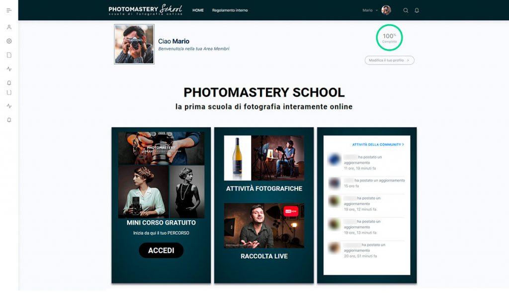 AREA MEMBRI (TRIAL) di Photomastery School: la tua Scuola di Fotografia online